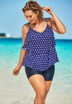 Double-Tier Tankini Top ,
