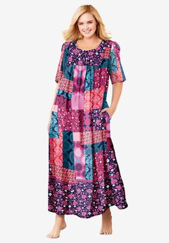 Mixed Print Long Lounger , MULTI PATCHWORK