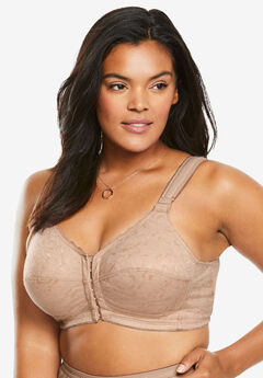 Lace Wireless Posture Bra , NUDE
