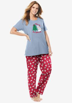 Graphic Tee PJ Set , CLASSIC RED CAT