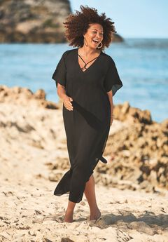 V-Neck Swim Caftan ,