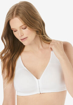 Front-Close No-Wire Cotton Comfort Bra,