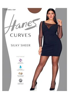 Curves Ultra Sheer Control Top Legwear,
