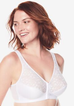 Exquisite Form® Fully® Front-Close Lace Wireless Posture Bra 5100565,