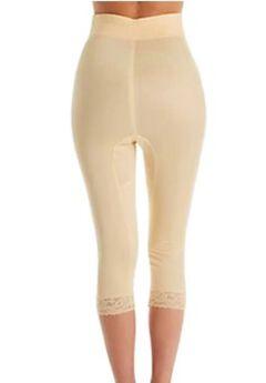 No Top Roll High Waist Medium Shaping Capri Pant,