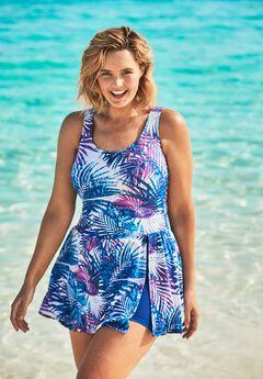 Side-Slit Swim Dress ,