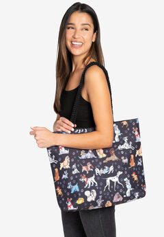 Disney Dogs Travel Rope Tote Bag Carry-On Paw Prints 101 Dalmatian,