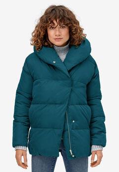 Shawl Collar Puffer Jacket,