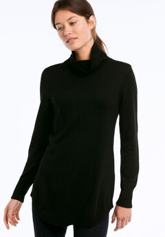 Audrey Turtleneck Sweater, BLACK
