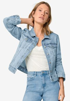 Classic Denim Jacket, LIGHT BLUE STONEWASH