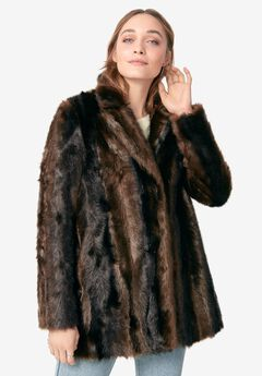 "Faux ""Mink"" Jacket,"