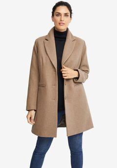 Malin Wool-Blend Coat, DARK TAUPE