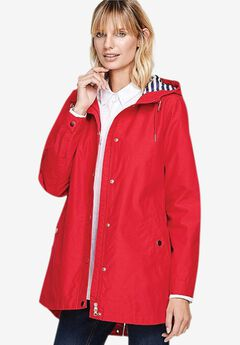 Snap-Front Hooded Raincoat,