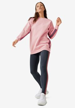 Side-Stripe Tunic Sweatshirt,