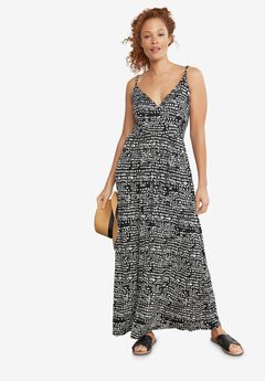 Knit Surplice Maxi Dress,
