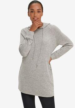 Marled Knit Hooded Lounge Tunic,