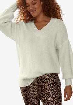 Blouson Sleeve Pullover, PETAL WHITE
