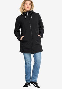 Zip Front Bonded Fleece Jacket,