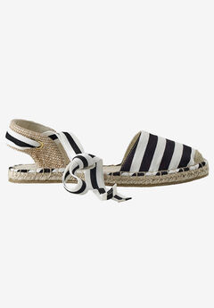 Lace-Up Flat Espadrilles,