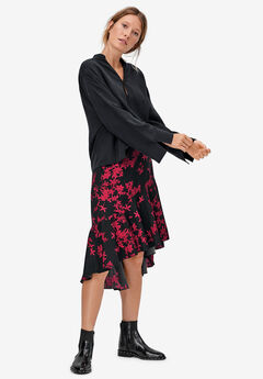 High-Low Flounce Skirt,
