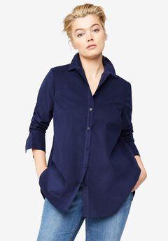 Corduroy Button Front Tunic,