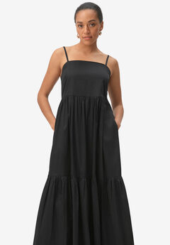 Tiered Cotton Maxi Dress,