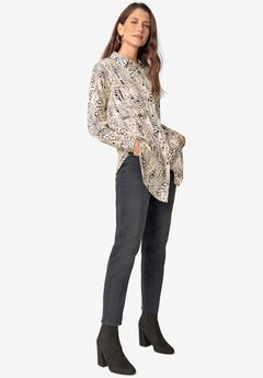 Hi-Low Tunic With Oversized Pockets,
