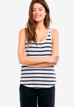 Knit Henley Tank,