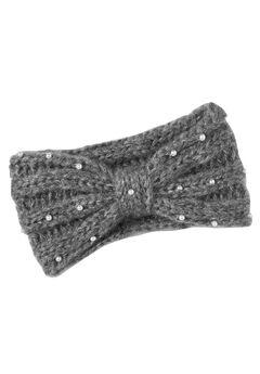 Cable Knit Pearl Trim Headband,