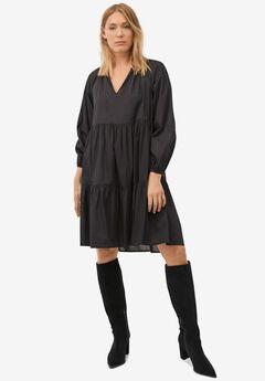 V-Notch Tiered Dress,