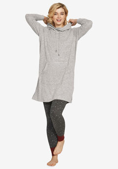 Funnel-Neck Lounge Sweatshirt Tunic,