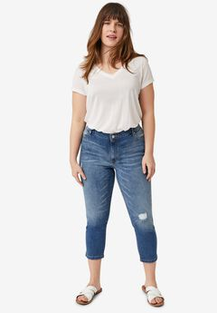 Cropped Slim Jeans,