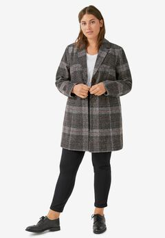 Plaid Tweed Coat,