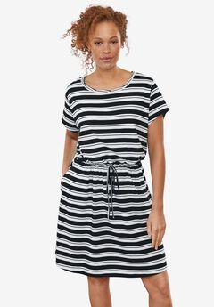 Knit Drawstring Dress,