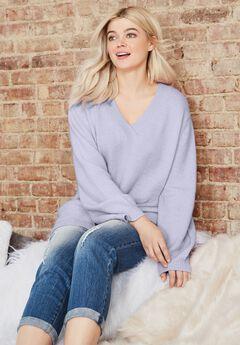 Oversized Pullover Sweater, LAVENDER MIST