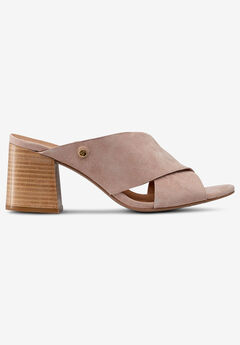 Suede Block Heel Sandal,