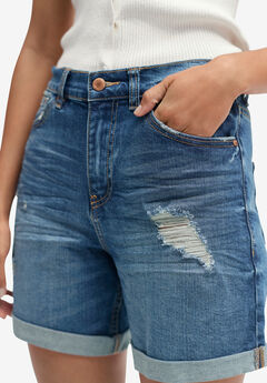 Denim Boyfriend Shorts,