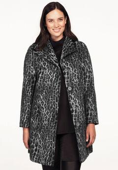 Brushed Wool-Blend Coat,