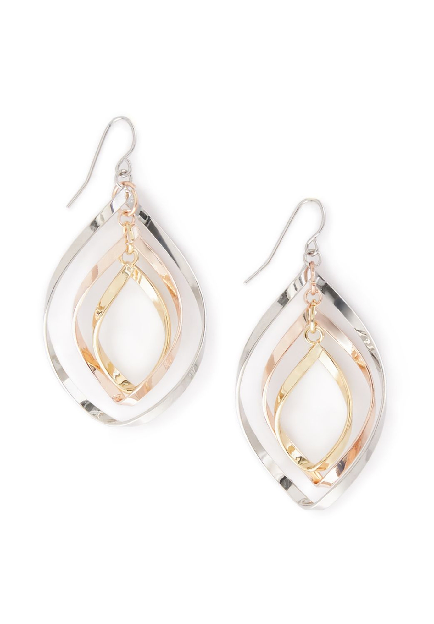 Twisted Drop Earrings, TRITONE