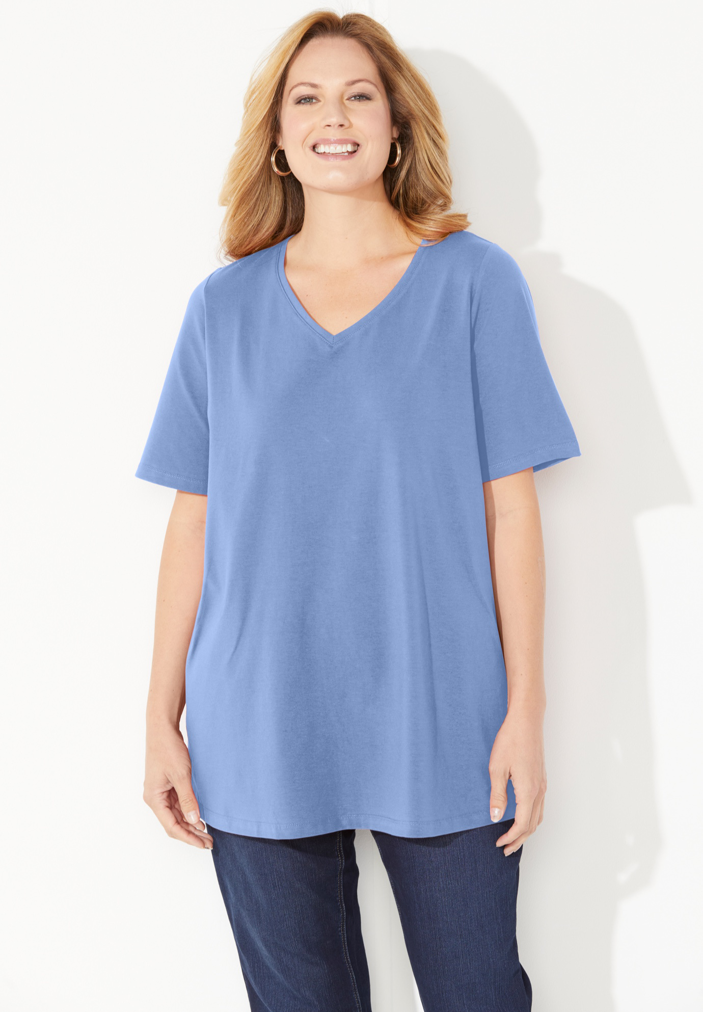Suprema Ultra-Soft V-Neck Tee,