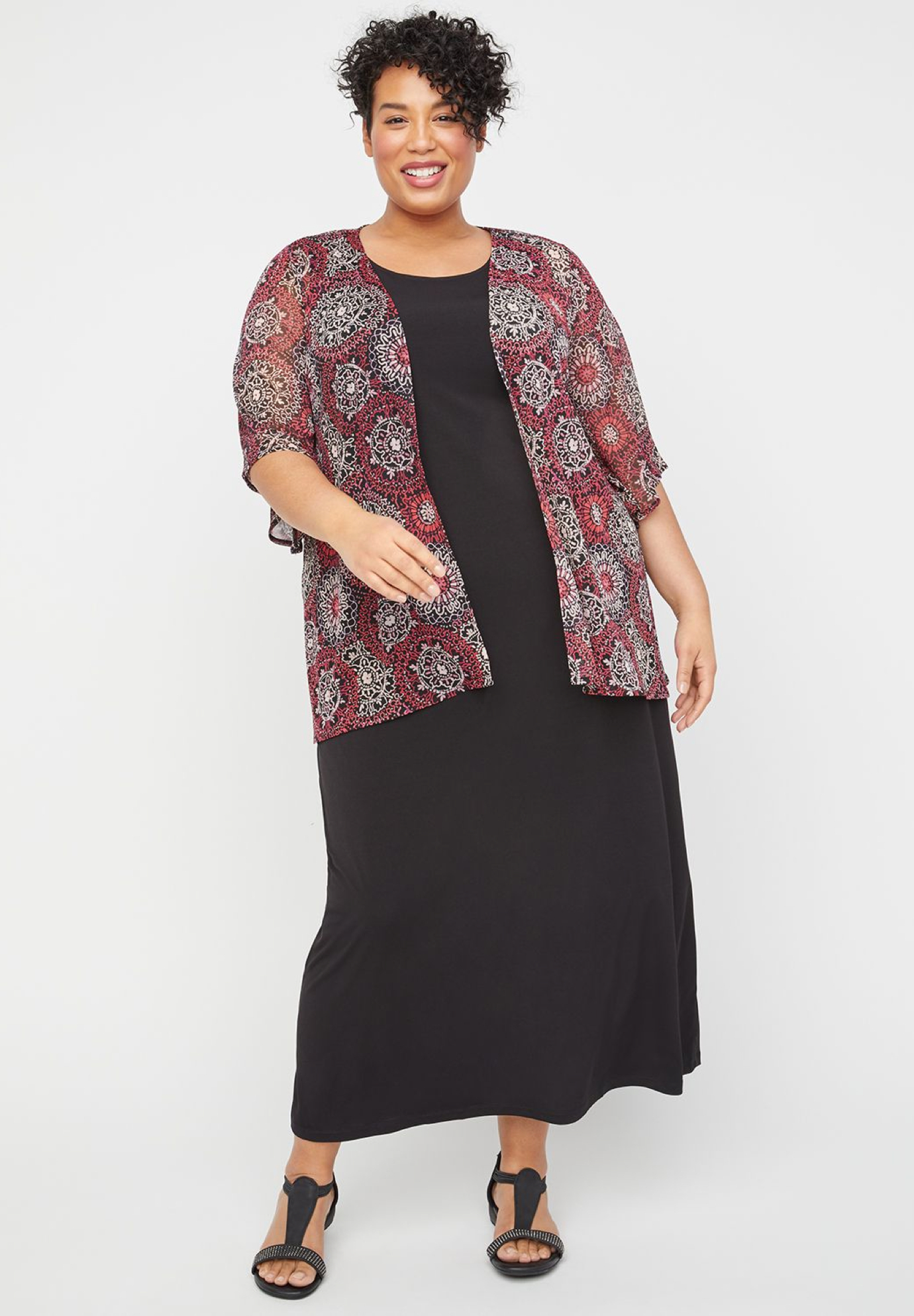 Coneflower Maxi Jacket Dress,