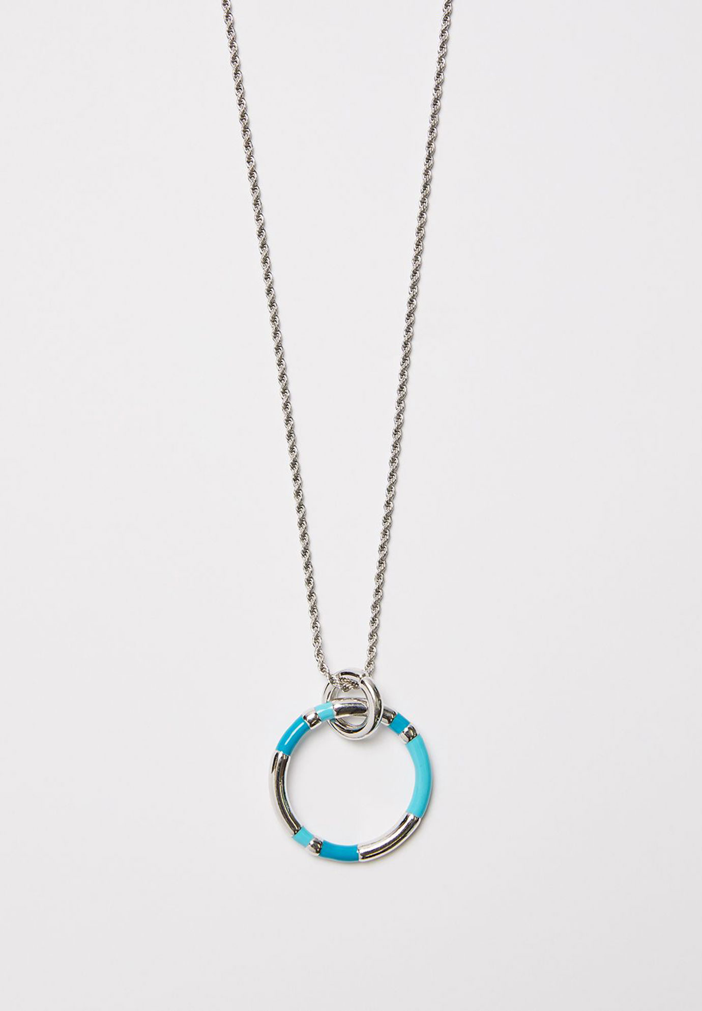 Brilliant Blue Pendant Necklace, AQUA