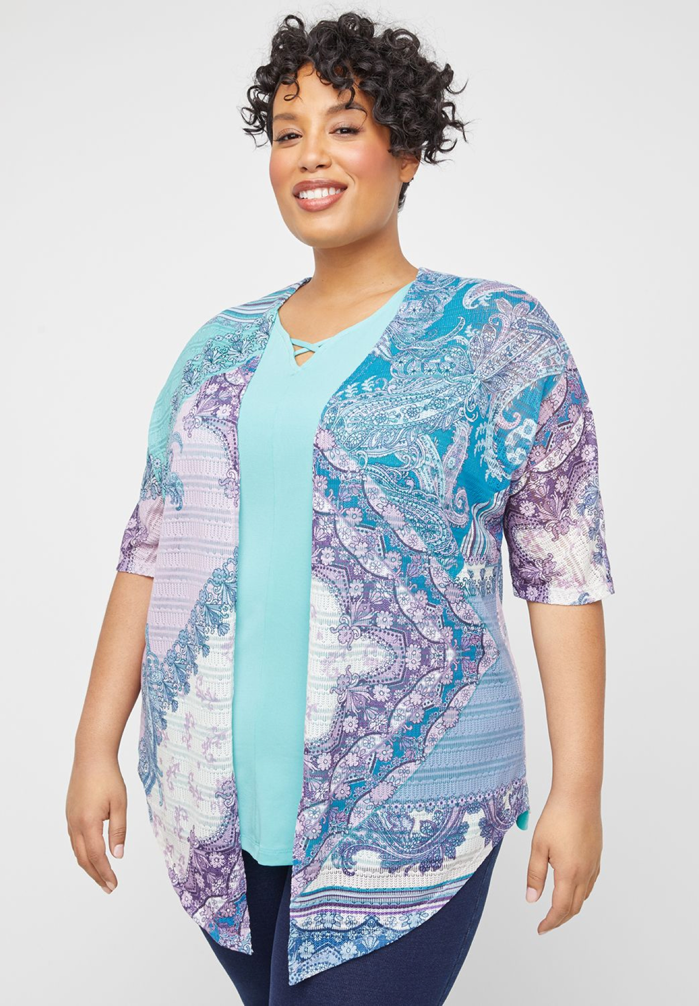 Patchwork Paisley Lace Cardigan,