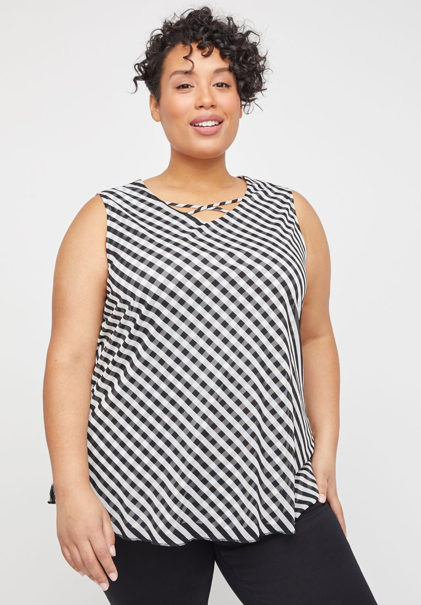 Stripe Swish Tank,