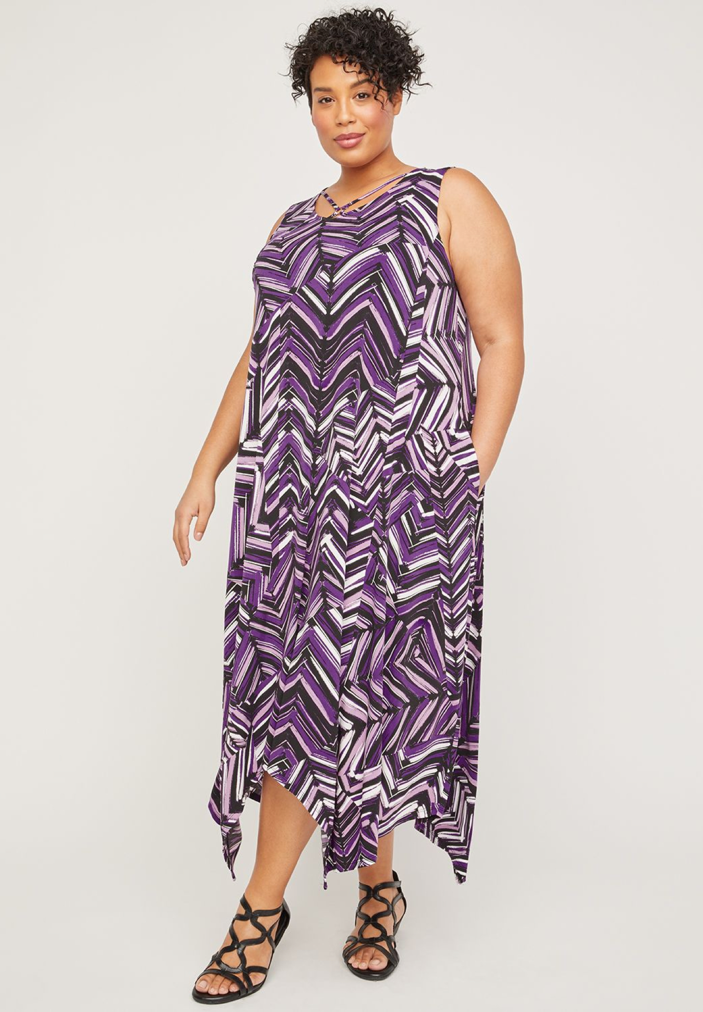 AnyWear Floating Hoop A-Line Dress (With Pockets),