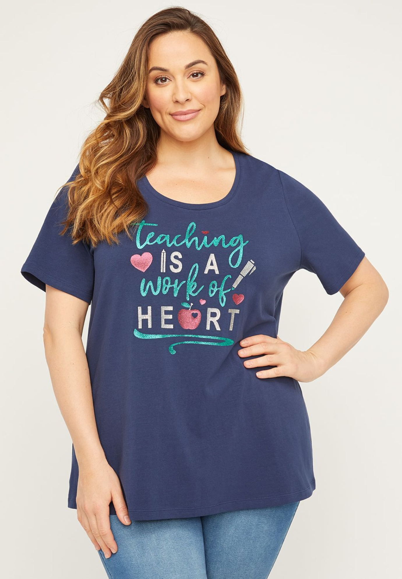 Teaching Is a Work of Heart Tee,