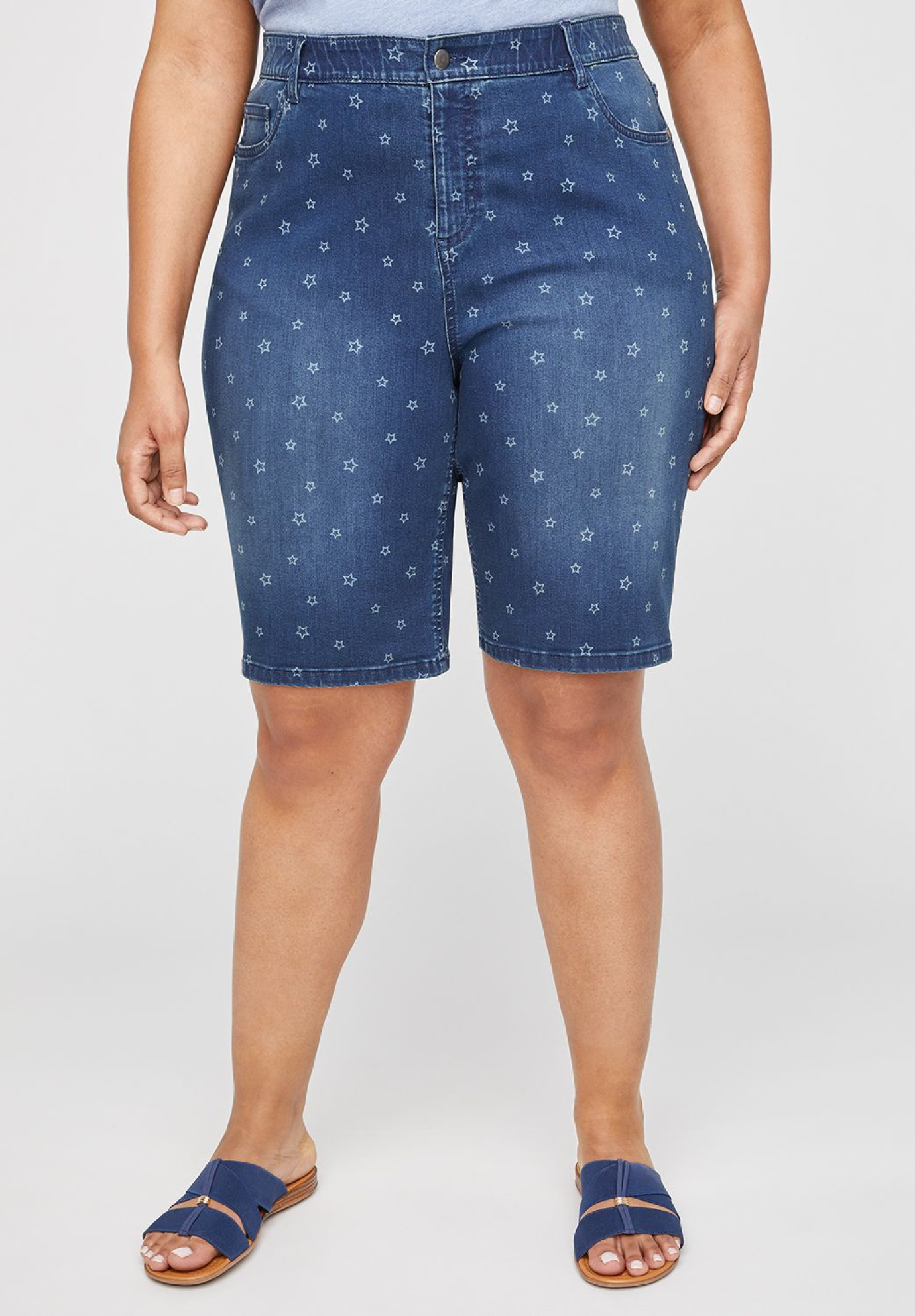 Jean Short With Star Motif,
