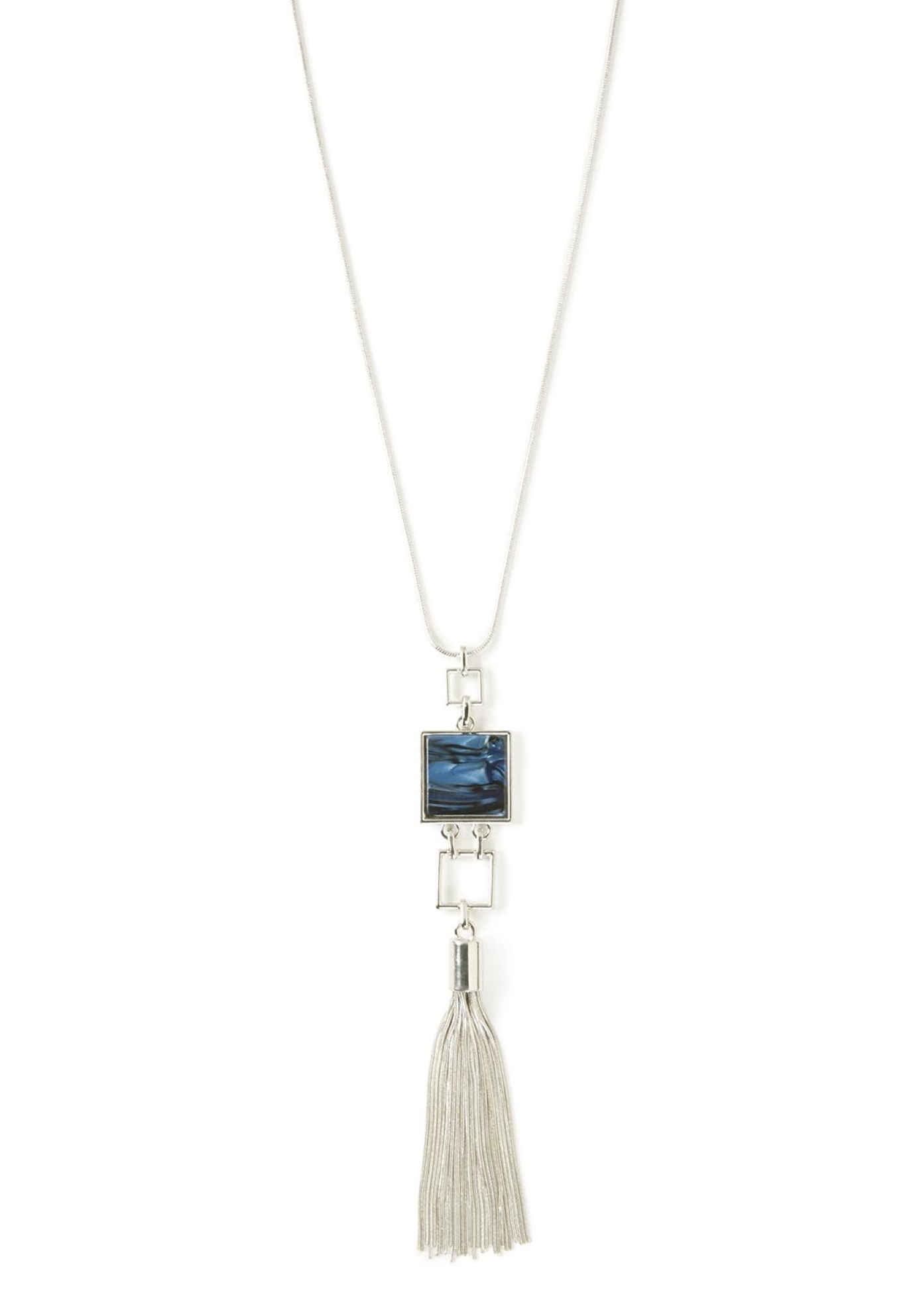Modern Tassel Pendant Necklace,