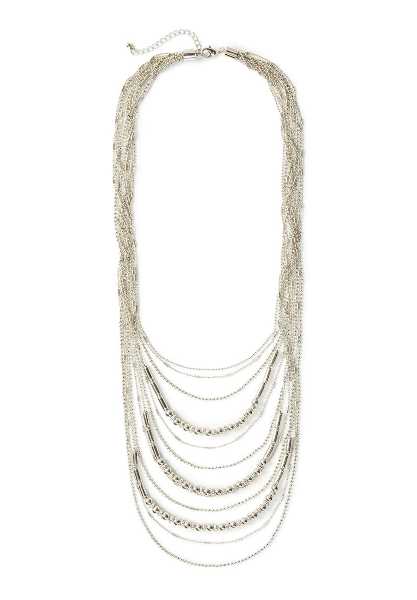 Timeless Layered Necklace, SILVER