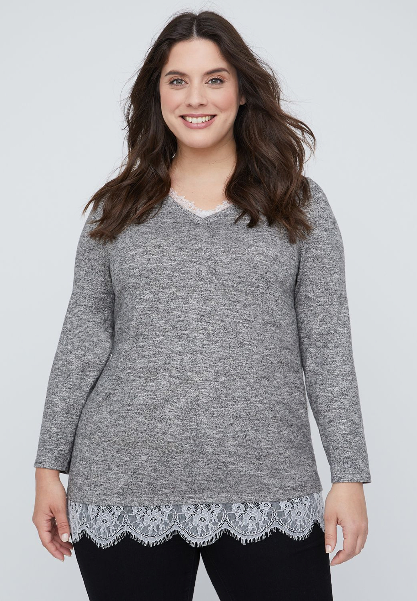 Heather & Lace Duet Top,